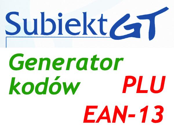 Generator kodów kreskowych EAN i PLU